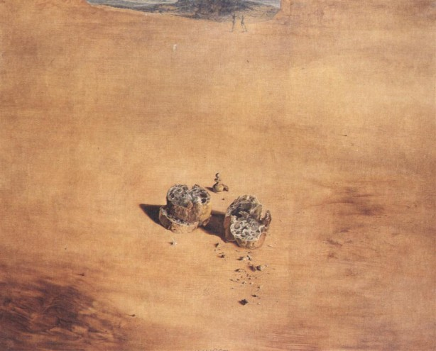 Two Pieces of Bread Expressing the Sentiment of Love, Salvador Dali, 1940